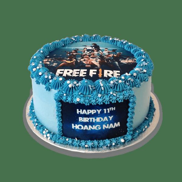 Free Fire Photo Cake Cake Owls